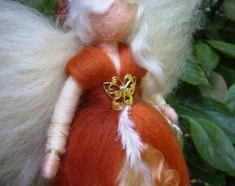 FAIRY Needle Felted Wool Cinnamon Doll Angel Fairies Soft Sculpture Waldorf Inspired