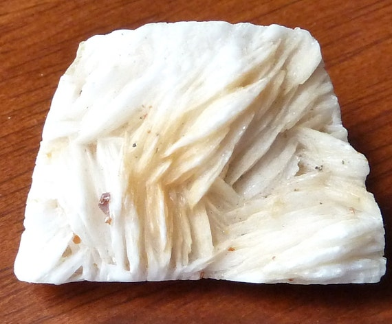 Large Barite Bead Slab Pendant  -  Quartz Crystal Formations  -  37x28mm  -  All Natural Collectible Mineral