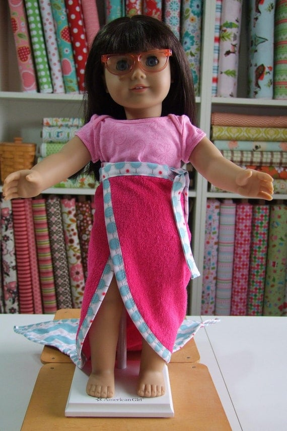 Mermaid Tail Towel Personalized for American Girl Doll