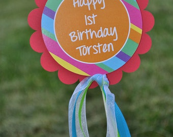 1st Fiesta Birthday Party Cake Topper, Birthday Party Decorations, Cinco De Mayo, Cake Decorations, Personalized Party Decorations