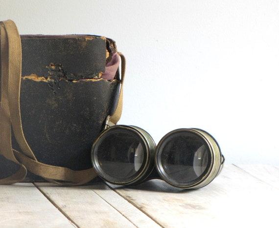antique military binoculars