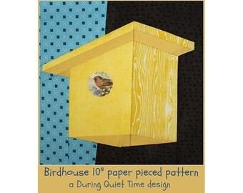 Birdhouse Paper Pieced Pattern