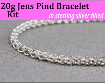 20g Jens Pind Bracelet Chainmaille Kit in Silver Fill