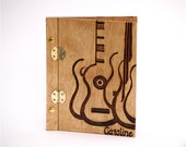 Personalized Abstract Guitar Wooden Journal Photo Album