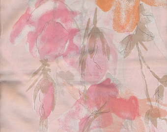 Vera Scarf Trumpets Roses flowers in pink and orange