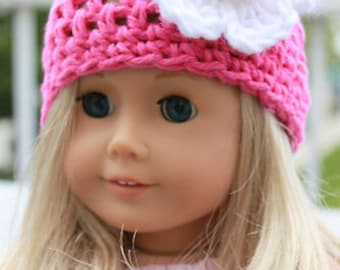 """Crocheted Doll Beanie Hats.  Fits 18"""" dolls and American Girl Dolls & Bitty Baby"""