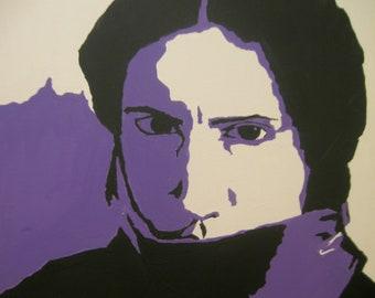 Trent Reznor Pop Art Portrait in Purple - Artistry To Alchemy