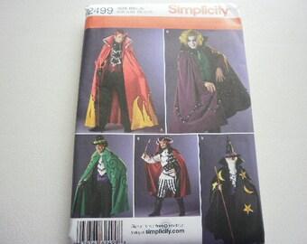 Pattern Costume Men Devil Wizard Pirate Sizes Lg-XL Simplicity 2499
