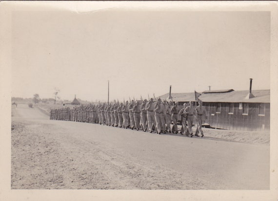 Soldiers Marching Vintage Photograph (OO)