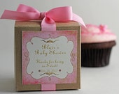 Baby Girl Bling...One Dozen Personalized Cupcake Mix Baby Shower Favors