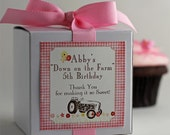 Farm Girl...One Dozen Personalized Cupcake Mix Party Favors