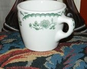 vintage Syracuse green Chardon Rose coffee mug restaurant china