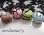 French Macaron - polymer clay charm (Necklace, ring OR earrings)