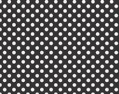 ON SALE 1 yard Riley Blake Black Small Dots