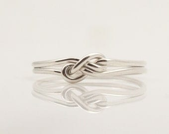 Fancy infinity ring. Unique friendship rings, promise ring, bridesmaid gift, sister jewelry. Sterling Silver infinity ring