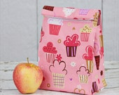 Pick Your Fabric -  Lunch Sack - Lunch Tote - Reusable Lunch Bag