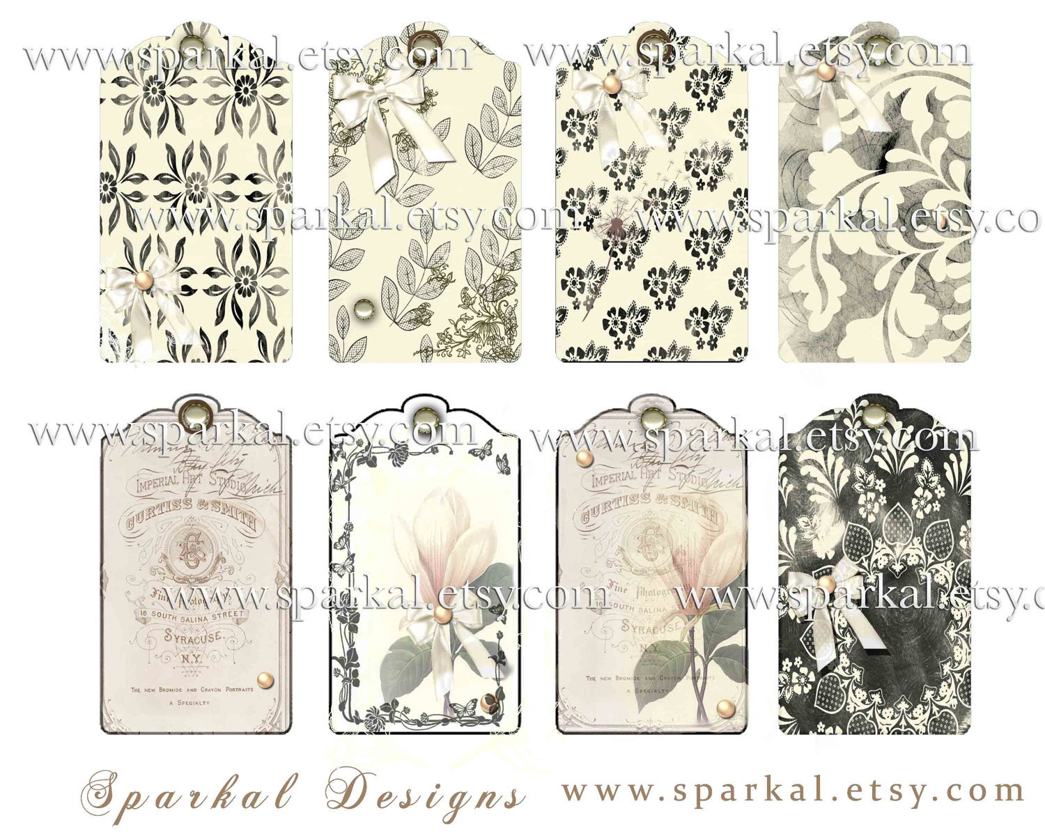 Free Printable Wedding Gift Tags: Chandeliers & Pendant Lights