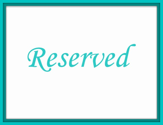 Reserved for Anna