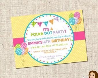 PRINTABLE Polka Dot Party Invitation #571
