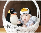 Silly Penguin Crochet Hat ( Made To Order, available in all baby to adult sizes)