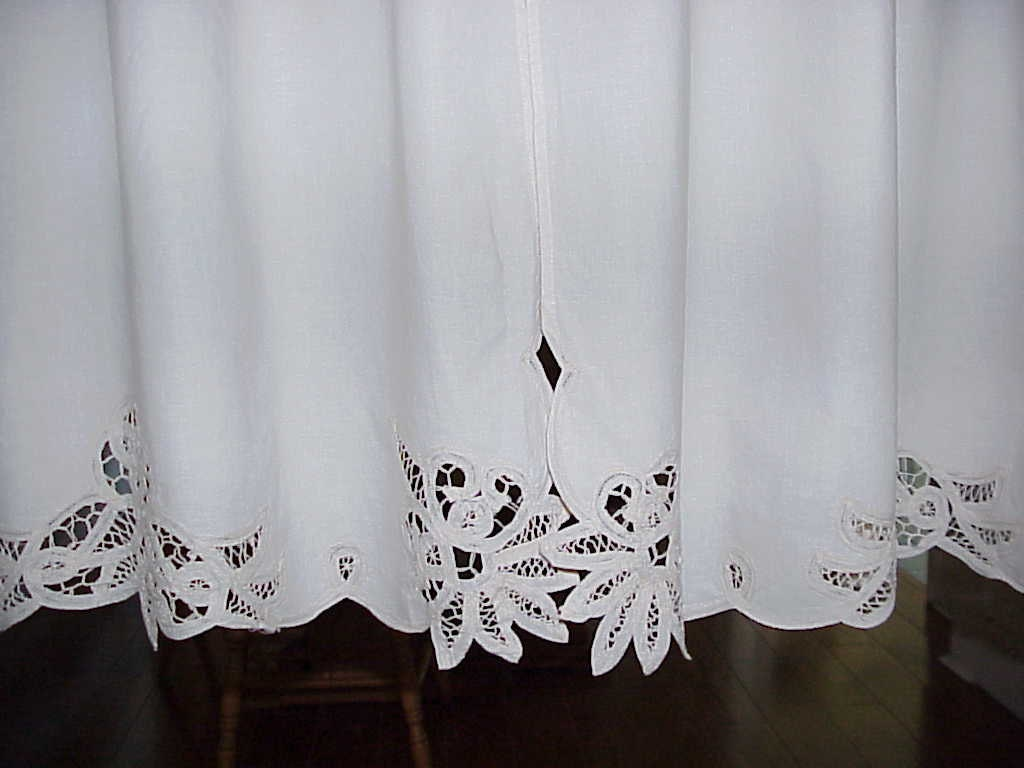 Vintage Cut Out Design Trimmed Curtains 60 Inches Wide