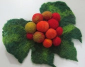 Felted brooch Autumn  Feminine Gift For Her,  eco friendly for women OOAK handmade accessories