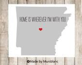 "State Love Print "" Arizona "" Home is Wherever I'm with you. Printable"
