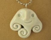 New Friend pale gray ceramic necklace