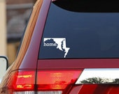 Home State Sticker Decal for Car, Laptop and More - Maryland - 49 States Available