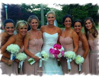 Bridesmaid Belt, 18 inch Bridesmaids Sash, Rhinestone Crystal Maid of Honor Sash, Jeweled Bridesmaids Belts and Sashes, Gift, No. 1126S-18