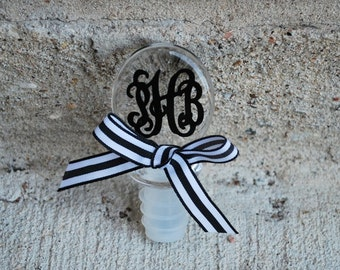 Monogram Wine Stopper - Acrylic