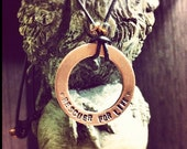 Custom Copper Statement/Quote Necklace