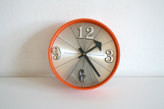 Vintage Orange Clock