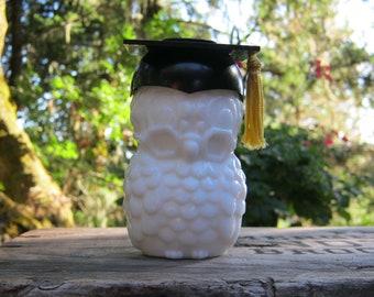 Avon Graduation Owl Cologne Bottle - Dr. Hoot Decanter - Oak Hill Vintage