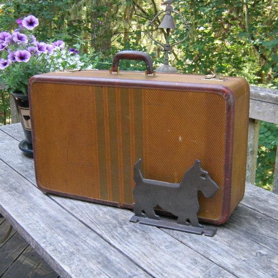 Vintage Tweed Suitcase by Dresner