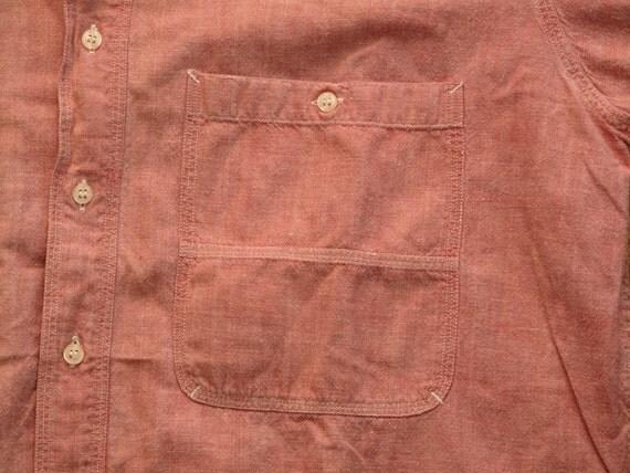 mens vintage gant red chambray shirt