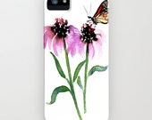 Floral Phone Case Monarch Butterfly - Floral Painting - Designer iPhone Samsung Case