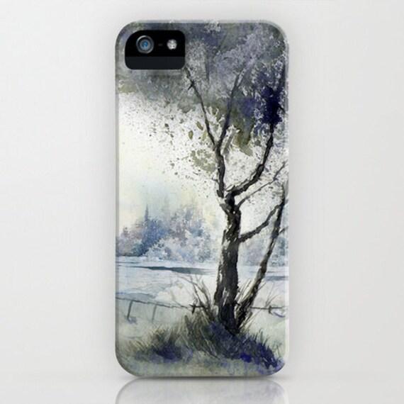 Phone Case Winter Solitude - Landscape - Designer iPhone Samsung Case