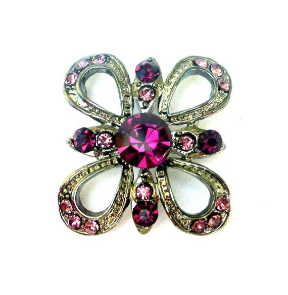 Amethyst butterfly slider bead, gorgeous large focal 2 hole bead