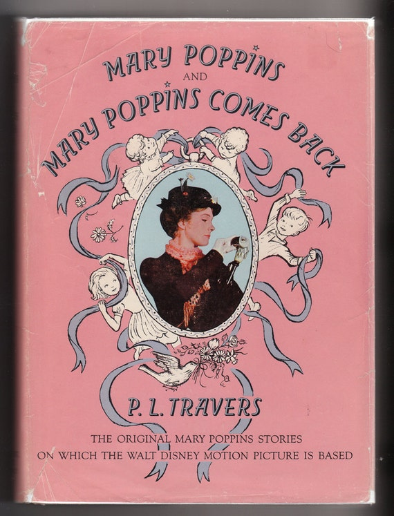 Mary Poppins and Mary Poppins Comes Back, by P.L. Travers, Vintage Hardcover Book, 1963, 2 Stories in 1 Volume