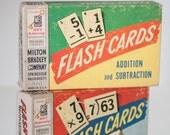 Vintage Set of Two Milton Bradley Flash Cards