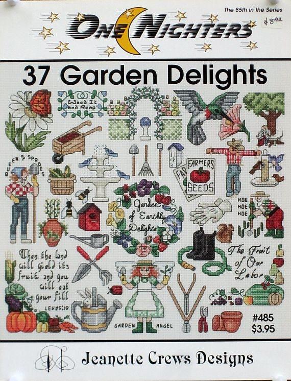 37 Garden Delights - One Nighters - Cross Stitch Designs - Jeanette Crews Designs