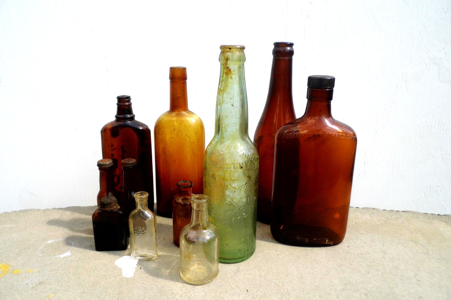 Vintage Bottles Antique Bottles Vintage Amber Bottle