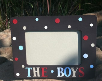 Custom Picture Frame for The Boys