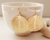 Gold Filigree Leaf Earrings. Nature. Everyday Wear. Gift For Her (SER-37)