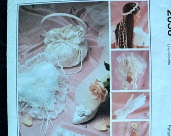 Bridal Accessories Pattern - McCall's Crafts No. 2058