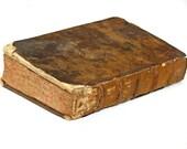antique French Religious Book, copyright 1687, very rare