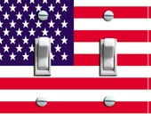 US FLAG Switch Plate (single, double, triple)  - - FREE Shipping - -