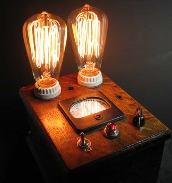 Steampunk Lamp One Of A Kind By Mechanique Steampunk