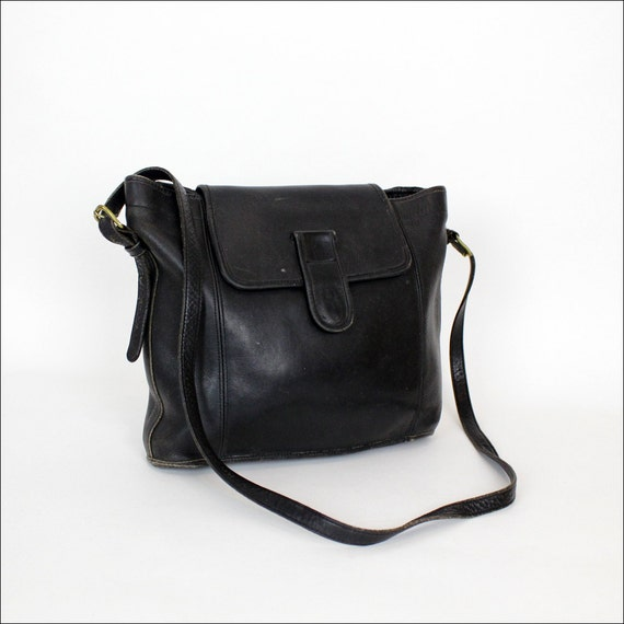 HOLD black saddle leather satchel / harve benard